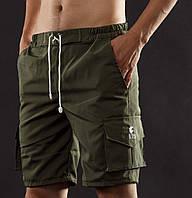 Шорты мужские хаки YSTB Olive Green Олива с накладными карманами (шорты-карго, рип-стоп, молодежные), фото 1