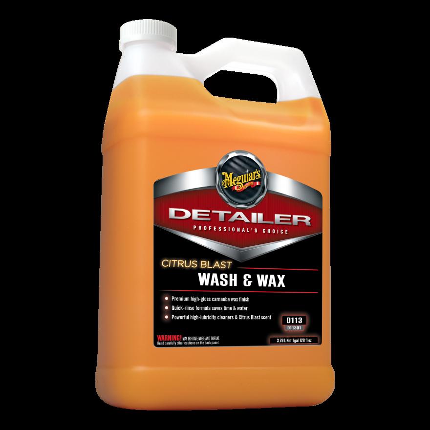 Концентрат шампунь с воском карнаубы - Meguiar's Detailer Citrus Blast Wash & Wax 3,79 л. (D11301)