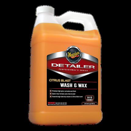 Концентрат шампунь с воском карнаубы - Meguiar's Detailer Citrus Blast Wash & Wax 3,79 л. (D11301), фото 2