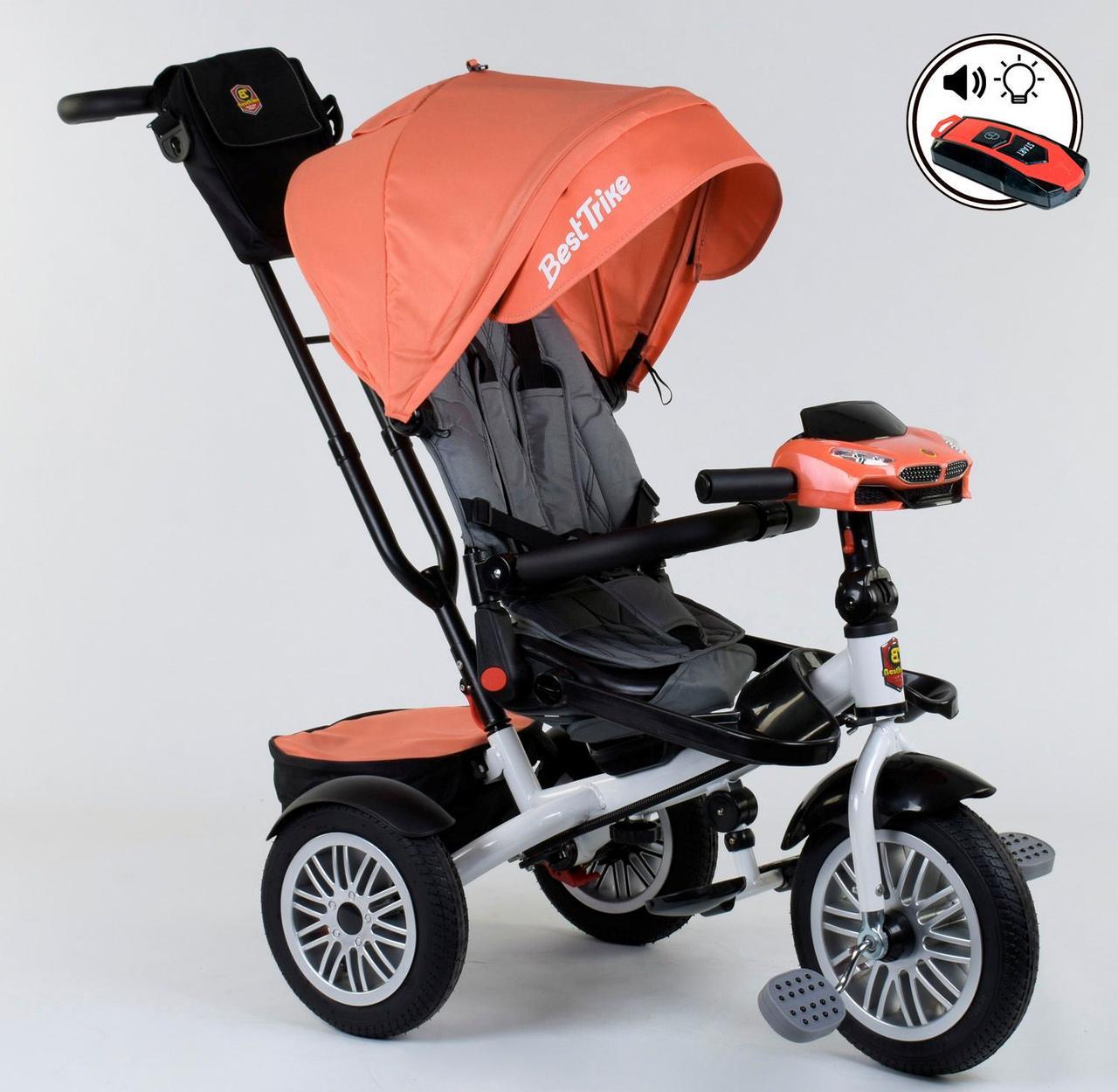 Велосипед 3-х колёсный 9288 В - 4716 Best Trike ПОВОРОТНОЕ СИДЕНЬЕ, СКЛАДНОЙ РУЛЬ, ПУЛЬТ 76980