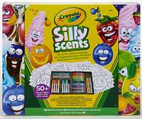 Маленький набор для творчества в кейсе с восковыми мелками и фломастерами, Silly Scents, Crayola (04-0015)