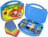 Набор для творчества в удобном синем чемоданчике (85 элементов), Crayola, синий (04-2704-1)
