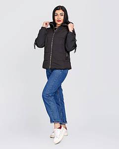 Женская короткая демисезонная куртка оверсайз