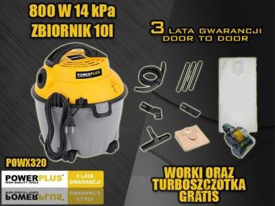 Пилосос промисловий без мішка POWX320 800 ВТ!