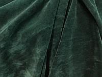 Велюр хлопок  10 метров изумрудный зелёный