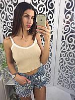 """Майка-топ женская летняя вязка, размер 42-46 (4цв) """"MILANA"""" недорого от прямого поставщика"""