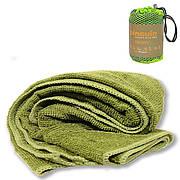 Туристическое полотенце Pinguin Terry Towel L Olive