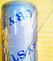 "Пленка ПВХ СИЛИКОН на метраж \ 400мкм плотность \ ширина 1.40м Прозрачная. Гибкое стекло. ""Сrystal"""