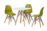 Пластиковый стул на буковых ножках M-05 лайм Vetro Mebel (бесплатная доставка), фото 7