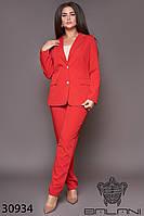 Костюм женский брючный красный большой размер