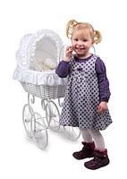 Коляска Vintage плетеные для кукол Анжела, фото 1