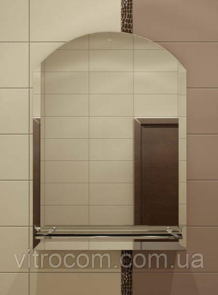 Зеркало с полкой  для ванной 80х65 см