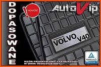 Резиновые коврики VOLVO V40 2015-  с логотипом, фото 1