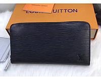 Женский кошелек в стиле Louis Vuitton (60017-2) black, фото 1