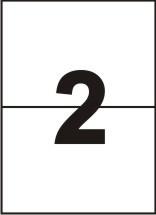Этикетки самоклеящиеся Sapro Labels 2 шт (210 x 148,5 мм) 100 листов