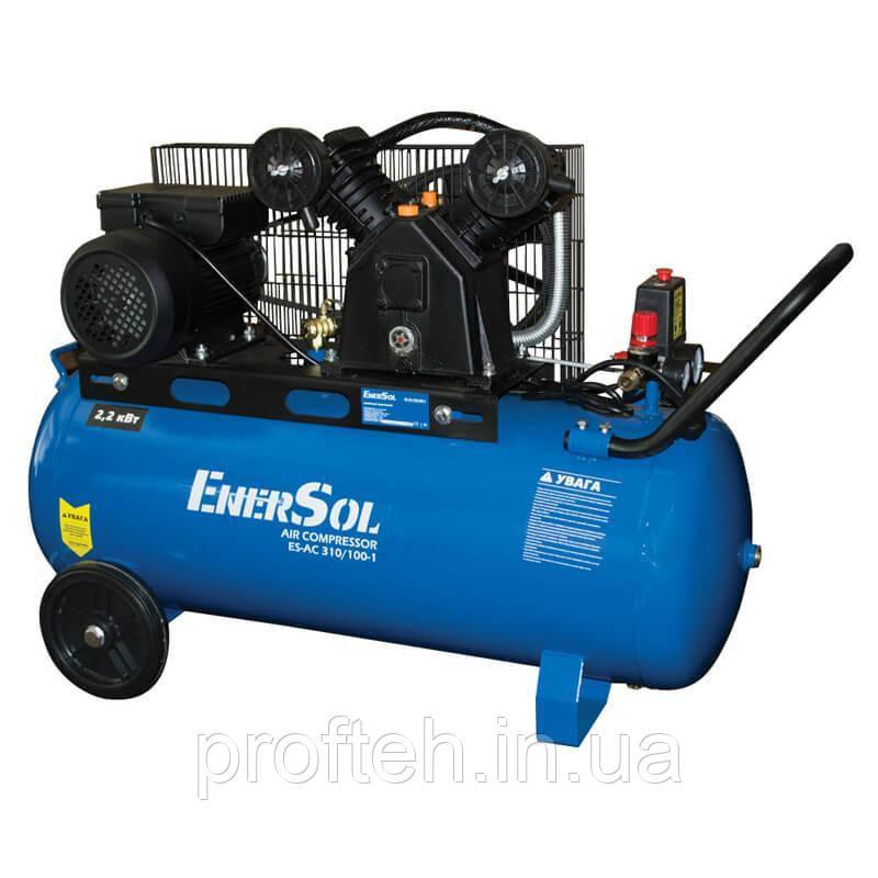 Компреcсор воздушный с ременным приводом EnerSol ES-AC310-100-1