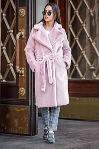 Шуба Yavorsky Валери из искусственного меха кролика с утеплителем розовая