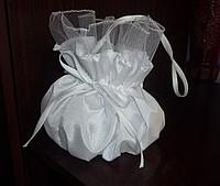 Сумочка  для невесты белая