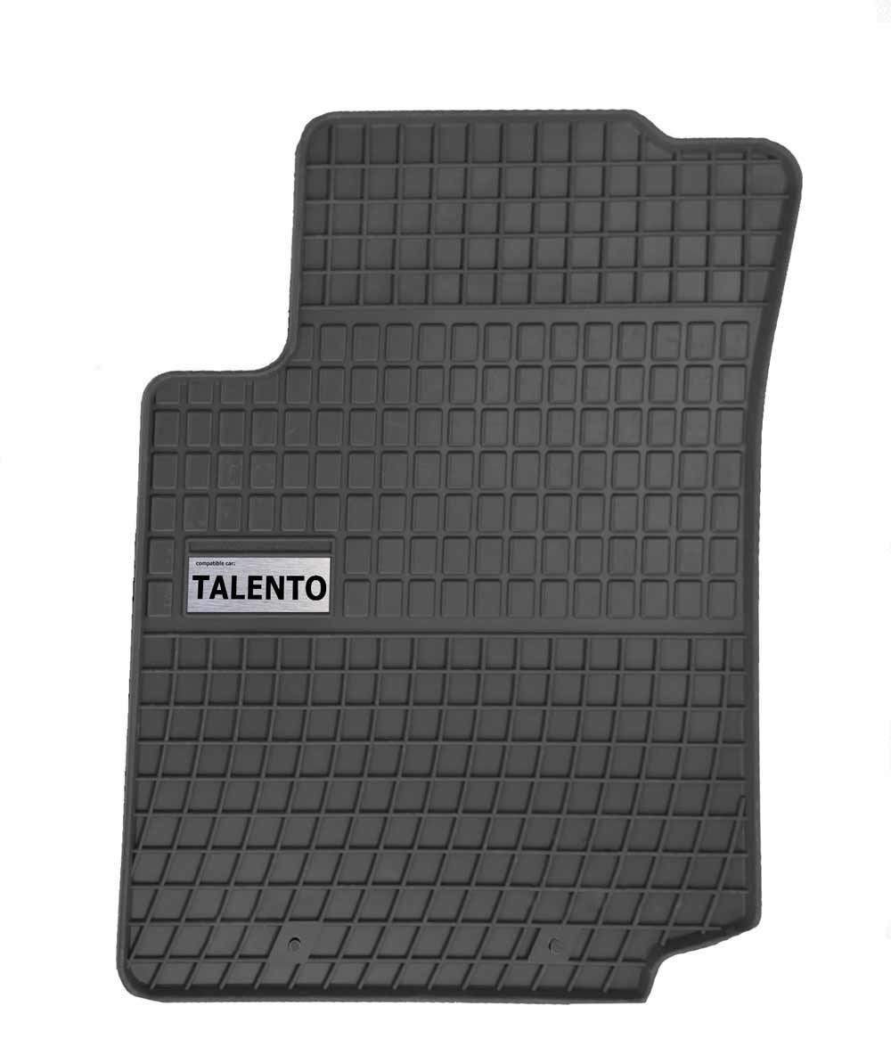 Резиновые коврики FIAT TALENTO 3S 2016-  с логотипом, фото 1