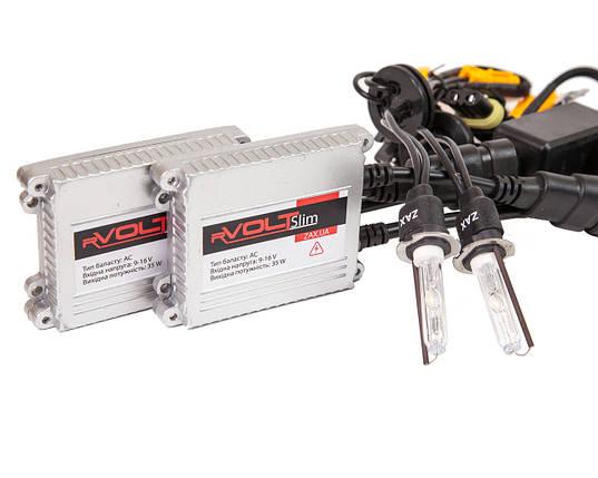 Комплект ксенона rVolt slim 35W 9-16V Zax ceramic H3 5000K, фото 2