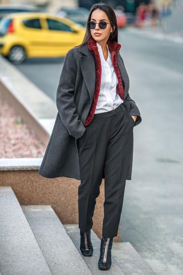 Женское демисезонное пальто на подкладке S, M, L, XL