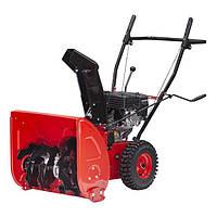 Снегоуборщик бензиновый, с приводом на колеса, 5 скоростей + 2 задние, 4-х тактный двигатель 5,5 HP / 4,1 кВт, рабочая ширина 560 мм INTERTOOL