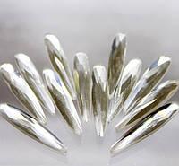 Хрустальные стразы(форма -вытянутая капля) .Цвет Crystal.Размер 6х30мм.Цена за 1шт.
