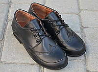 Туфли для мальчика школьные кожаные 732118