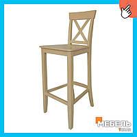 Барный деревянный стул «Барных Х» от производителя для бара оптом, стул, стул для бара, стул для кафе