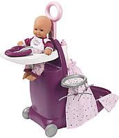 Игровой набор Smoby Toys Baby Nurse Прованс раскладной чемодан 3 в 1 с аксессуарами (220346)