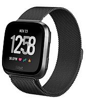 Миланский сетчатый ремешок для часов Fitbit Versa - Black