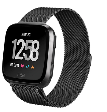 Миланский сетчатый ремешок Primo для часов Fitbit Versa / Versa 2 / Versa Lite - Black