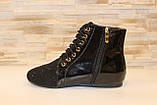 Ботинки женские черные лаковые Д590, фото 2