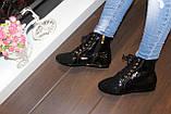 Ботинки женские черные лаковые Д590, фото 3