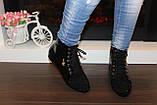 Ботинки женские черные лаковые Д590, фото 4
