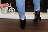 Ботинки женские черные лаковые Д590, фото 5