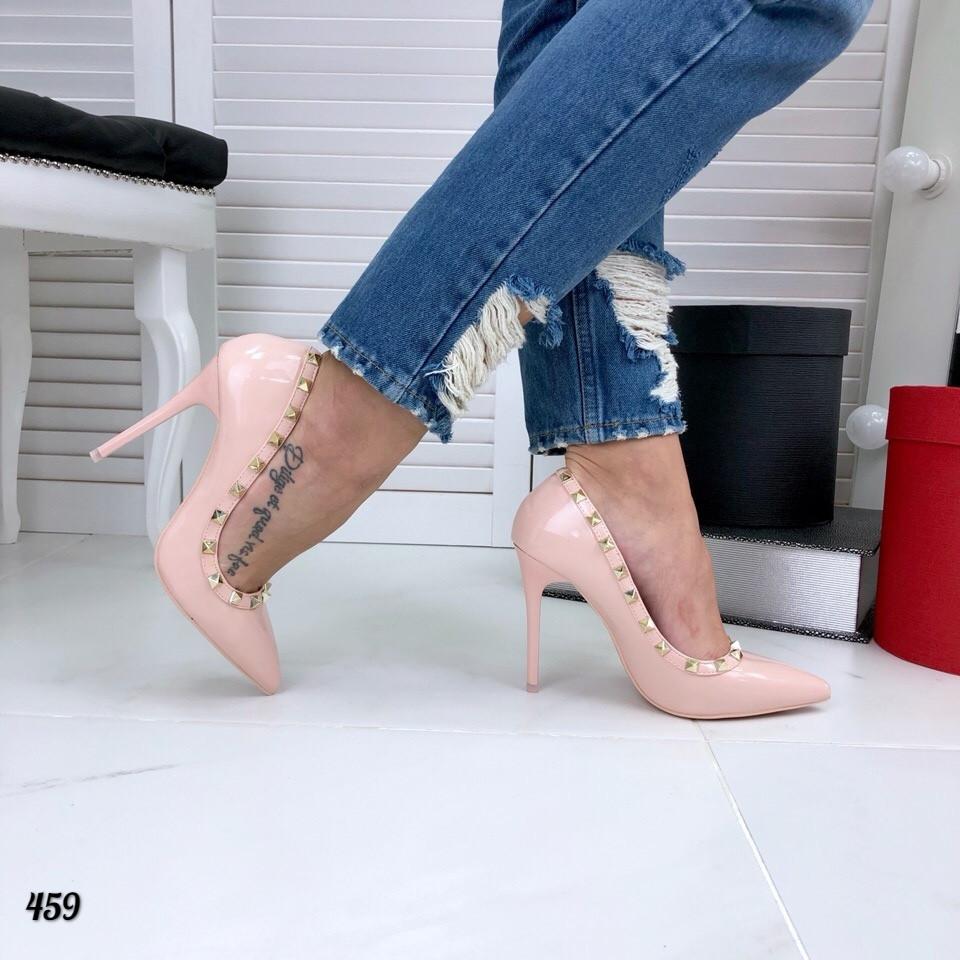 Туфли женские =V@lentino= пудра  459