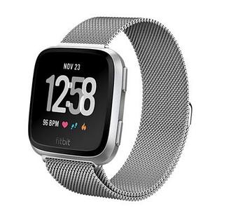 Миланский сетчатый ремешок Primo для часов Fitbit Versa / Versa 2 / Versa Lite - Silver