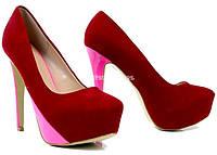 Стильные Удобные и модные женские туфли розового цвета! 35,36,37