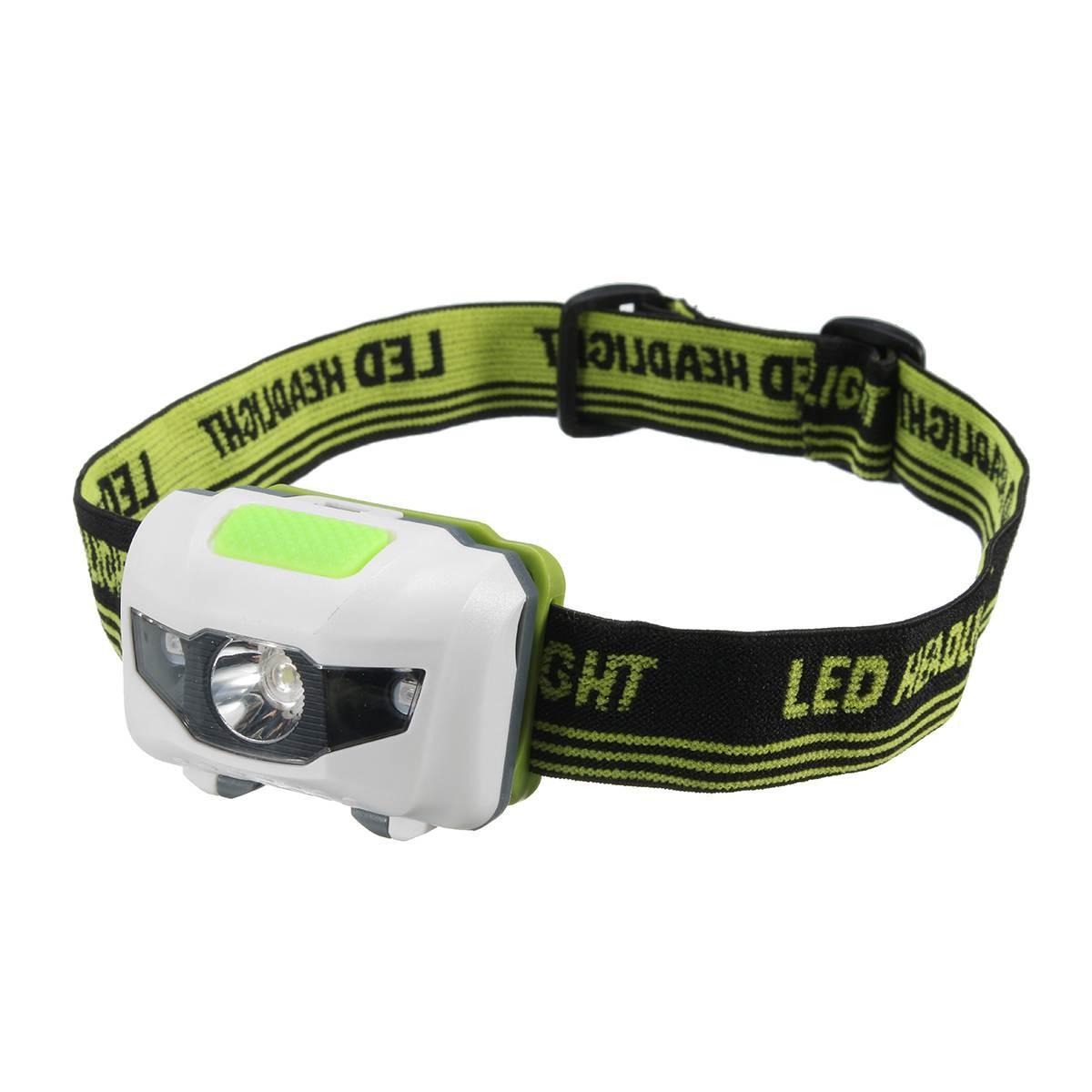 Туристичний налобний ліхтарик білий з зеленим (3 ААА) Налобний ліхтарик LED (світлодіодний)