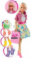 Кукла Ася блондинка с 4 парами обуви и аксессуарами, Я люблю обувь, Ася (35082)