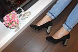 Туфли женские замшевые на каблуке код Т285, фото 3