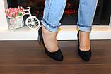 Туфли женские замшевые на каблуке код Т285, фото 4