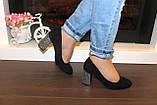 Туфли женские замшевые на каблуке код Т285, фото 6