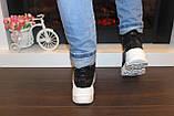 Черевики кросівки жіночі високі чорні Д593, фото 3