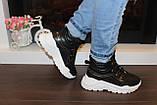 Черевики кросівки жіночі високі чорні Д593, фото 4