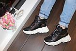 Черевики кросівки жіночі високі чорні Д593, фото 5