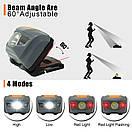 Туристический налобный фонарик серый (3 ААА) Налобний ліхтарик LED (светодиодный), фото 6
