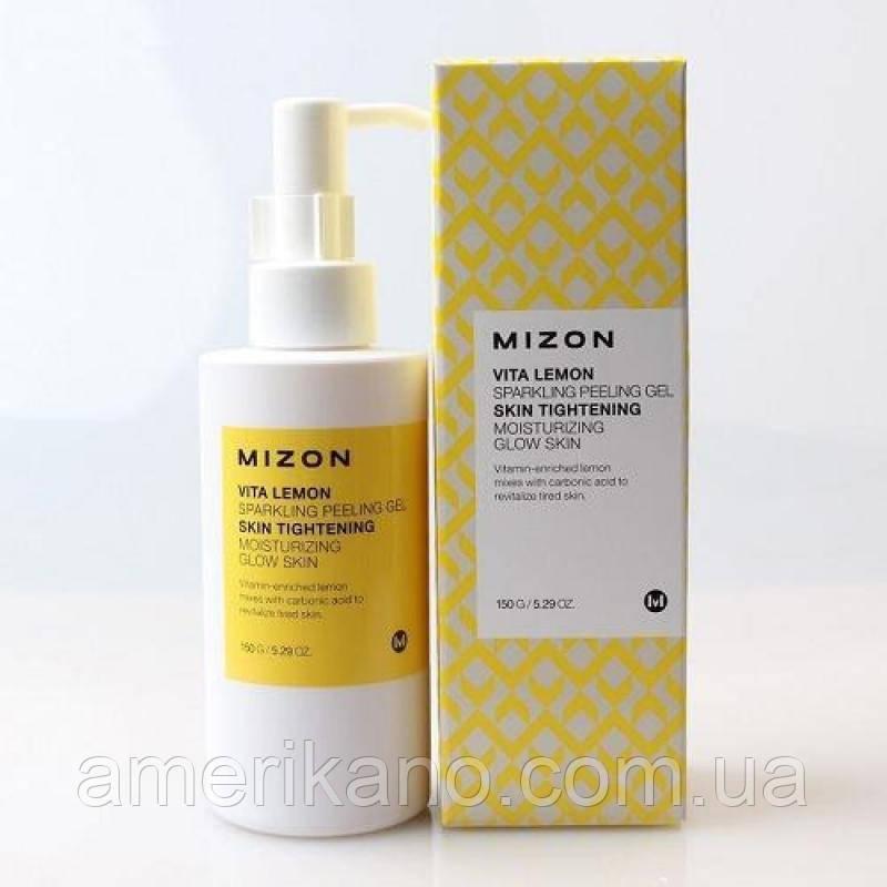 Пилинг-скатка с экстрактом лимона Mizon Vita Lemon Sparkling Peeling Gel