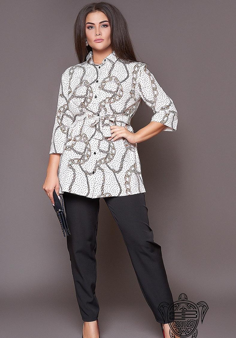 Женский костюм брюки с блузой 48,50,52,54,56,58,60,62